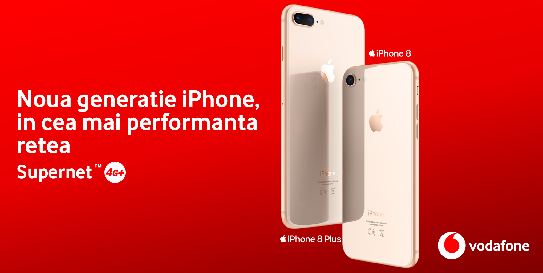 iPhone 8 si iPhone 8 Plus sunt disponibile in oferta Vodafone Romania