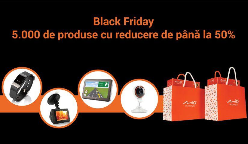 Mio participă la Black Friday cu 5.000 de produse la prețuri reduse cu până la 50% Ofertele includ produse din categoriile GPS, camere video auto, Smart Home și wearables