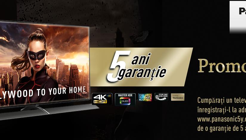 Obțineți garanție extinsă de până la 5 ani la noile televizoare Panasonic! Cele mai noi modele de televizoare Panasonic vin cu o garanție extinsă de până la 5 ani!
