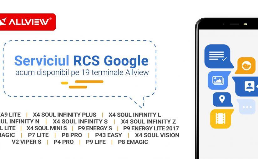 Allview introduce serviciul de mesagerie RCS Google™ pe 19 terminale, funcțional în rețelele Orange și Vodafone