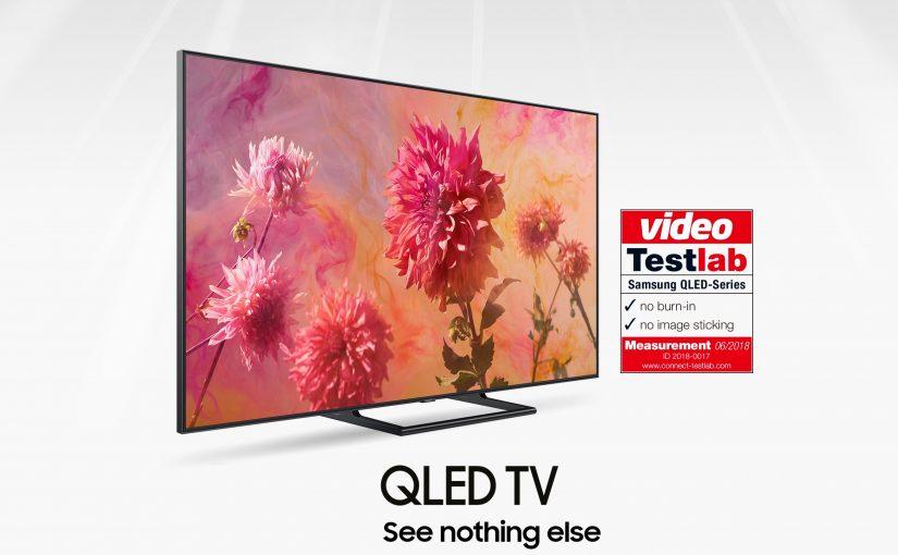 """Certificat de Testlab: Samsung QLED TV, fără efect """"burn – in"""""""
