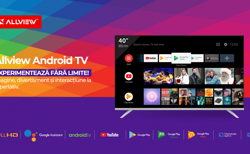 Allview țintește cel mai popular segment de smart tv Specificațiile de top ale Allview Android TV, în varianta 40""